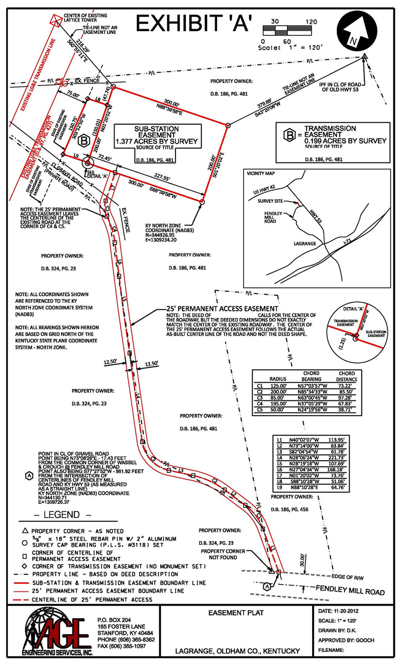 Surveying AGE Engineering - Property line survey map